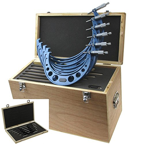 "Anytime Tools 6-12"" Outside Micrometer Set Machinist Tool Round Frame w/Carbide Tips"