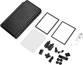 Tihebeyan Replacement Case Shell Housing for Nintendo DS Lite, Full Repair Parts Replacement Housing Shell Case Kit Compatible for Nintendo DS Lite NDSL(Black)