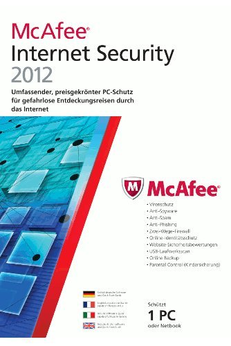 McAfee internet security 2012 (1 poste, 1 an) [import allemand]