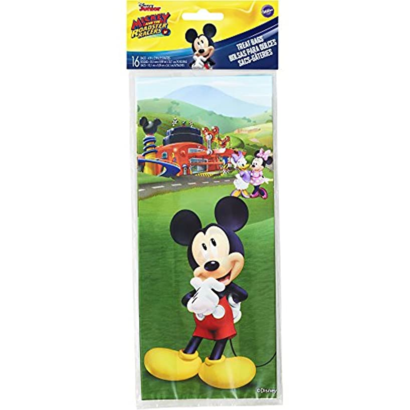 Wilton 1912-7108 16 Count Mickey and The Roadster Racers Treat Bags, Assorted