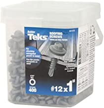 ITW Brands 21418 Series 12x1 ZN MTL Roof Screw, 12 x 1