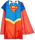 DC Comics - Disfraz de Supergirl oficial para niña, infantil 7-8 años (Rubie's 630987-L)