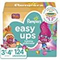 Pampers Easy Ups Pull On Disposable Potty Training Underwear for Girls and Boys, Size 5 (3T-4T), 124 Count (Packaging May Vary)