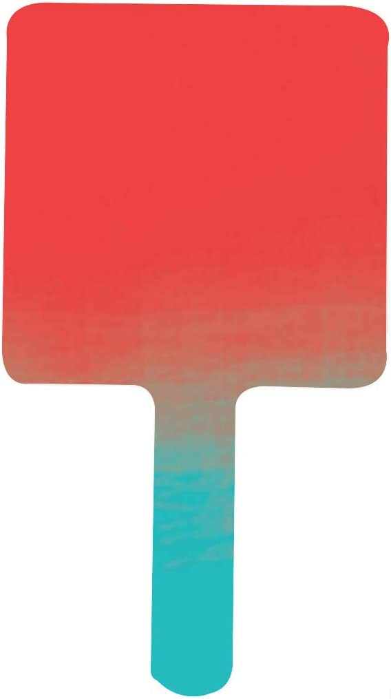 Ombre Watercolor Max 89% OFF Texture Teal and Animer price revision S Mirror Portable Coral Handle