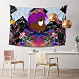 Lil Rap Uzi-Vert Tapestry, Poster Boutique Aesthetic Tapestry Wall Hanging Wall Tapestry for Room Dorm Home Decor (60 x 51 in)