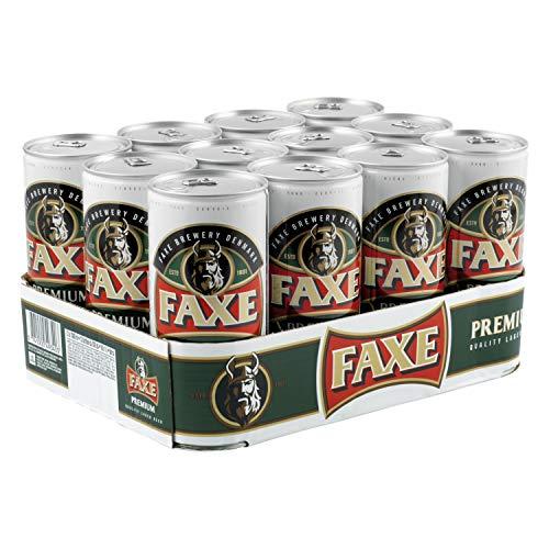 FAXE Premium 5% Dänisches Lagerbier 12 x 1 l Dosenbier