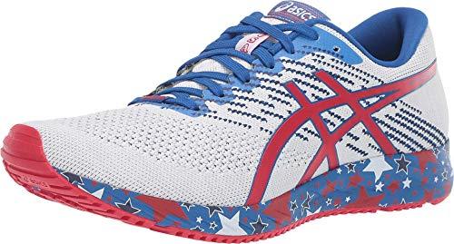 ASICS Women's Gel-DS Trainer 24 Running Shoes, 7M, White/Speed RED