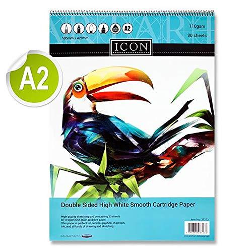 Premier Stationery Icon 110 g/mq, 30 fogli da disegno a spirale, formato A2