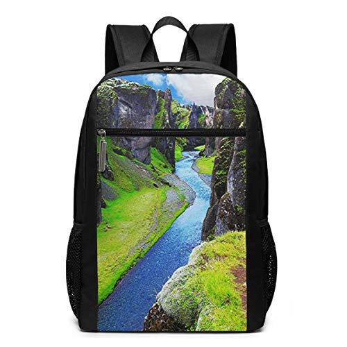 Schulrucksack Norwegische Fjorde, Schultaschen Teenager Rucksack Schultasche Schulrucksäcke Backpack für Damen Herren Junge Mädchen 15,6 Zoll Notebook