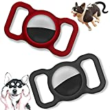2pcs Air Tag Silicone Protective Shell with Pet Collar Holder, Dog Cat Collar Loop, Anti Lost GPS Tracker Case, Scratch Resistance Finder shell Case, Adjustable Durable Protective Case