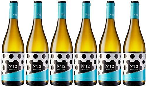 Paco & Lola Nº 12, Vino Blanco - 6 botellas de 75 cl, Total: 4500 ml