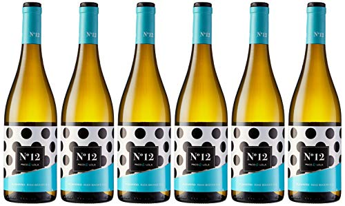 Paco & Lola Nº 12, Vino Blanco - 6 botellas de 75 cl, Total: 4500 ml