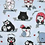 Pingianer 8,98€/m Eule 100% Baumwolle 50x160cm