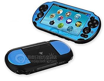Szjay Metal Aluminum Metallic Protection Hard Case Cover for Playstation Ps Vita 2000 Slim  Sky Blue