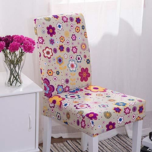 Fundas para sillas Gris Elegante Spandex Fundas sillas Comedor Lavable Extraíble Funda Muy fácil de Limpiar Duradera Modern Bouquet de la Boda Hotel Decor Restaurante 4/Piezas