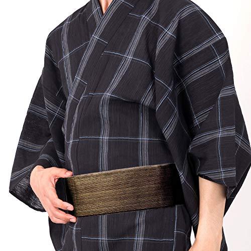 加藤商店『近江ちぢみ男性浴衣5点フルセット』