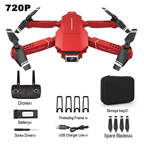 LUNAH RC Drone, E98 Toy con cámara HD 4K 1080P 720P RC Drone Quadcopter Plegable One Key Return Drone Toy