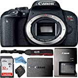 Canon EOS Rebel T7i 24.2 MP Digital SLR Camera Body + 32GB SanDisk Memory Card + Memory Card Reader + ZeeTech Microfiber Cloth + Camera Battery & Charger + Camera Strap Bundle (Camera Body Only)