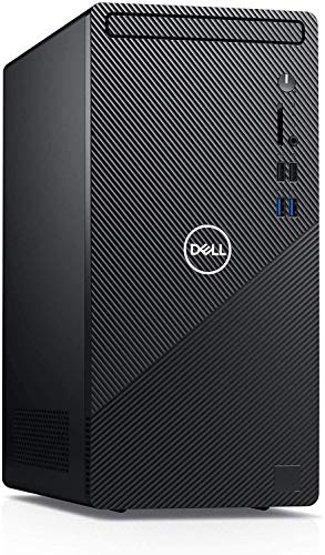 Newest Flagship Dell Inspiron 3880 Desktop Computer 10th Gen Intel Quad-Core i3-10100 (Beats i5-8400) 12GB DDR4 256GB SSD 1TB HDD NO-DVD Intel UHD Graphics 630, Business, Windows 10 Pro