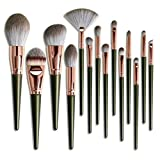 Set de Brochas Para Maquillaje Makeup Brush Set,Profesional Brochas De Maquillaje Face Eyeshadow Foundation Liquid Blush Pincel De Maquillaje Para Labios Set De 14 Brochas Para Maquillaje Set-A