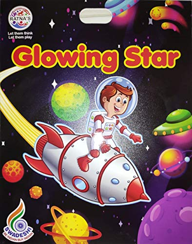 Pleasure Treasure Ratna's Glowing Star Glow in The Dark, Wall Stickers, Ceiling Stickers for Room Decor (Glowing Star)