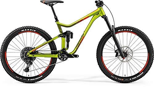 Merida One-Sixty 600 Fully - Bicicleta de montaña, 27,5 pulgadas, color verde y rojo, altura de bastidor de 47 cm