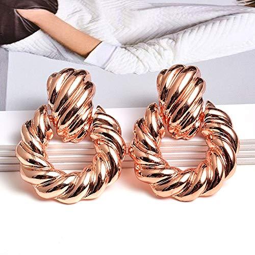 Metal Drop Earrings Fine Jewelry Accessories Statement Hanging Dangle Pendientes For Women Best Birthday Gift2