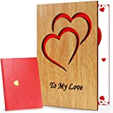 Valentines Day Card, Romantic Gifts for Her Him, Handmade Greeting...