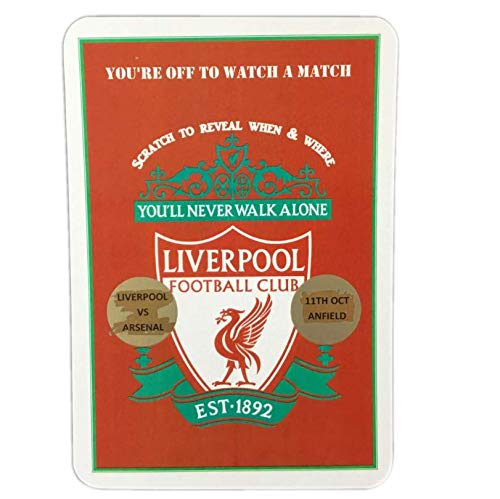 Liverpool FC Scratch & Reveal Surprise Trip Card. Fußball Karte Fußball-Tickets Karte Weihnachtsgeschenk. Geburtstagsgeschenk. Liverpool Geschenk