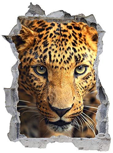 Leopard Afrika Tier Safari Wandtattoo Wandsticker Wandaufkleber E0393 Größe 46 cm x 62 cm