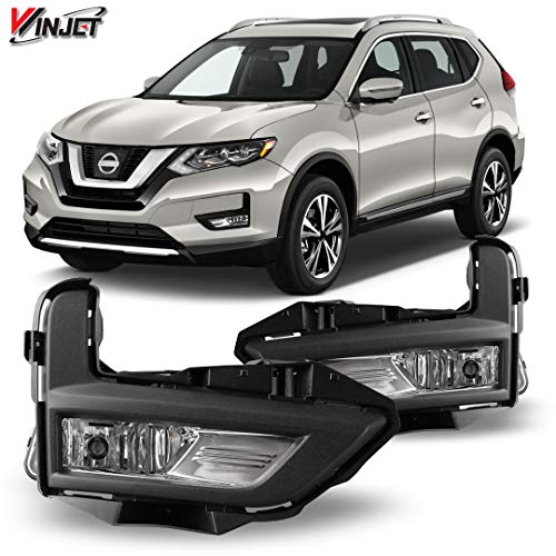 Winjet Compatible with [2017 2018 2019 2020 Nissan Rogue] Driving Fog Lights + Switch + Wiring Kit