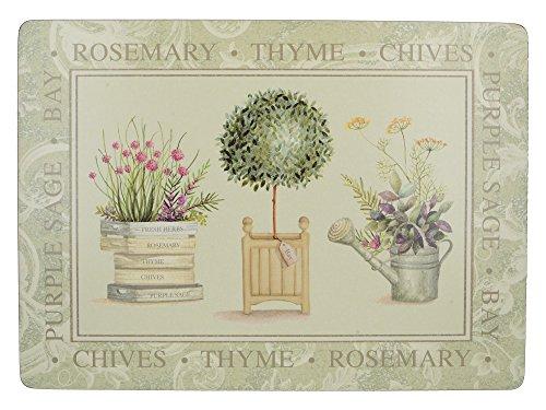 Creative Tops Topiary Premium-Tichsets mit Korkrückseite im 4-teiligen Set, 40 x 29 cm (15¾ x 11½ Zoll)