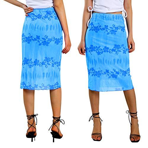 Falda de línea A para mujer, de verano, de los años 90 Hurajuku de cintura alta bohemia Midi falda Y2K E-Girl Streetwear Slim Fit elegante Bodycon falda