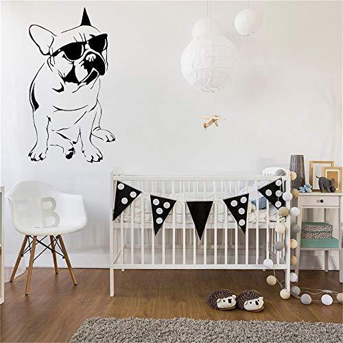 BJWQTY Sonnenbrillen Wandaufkleber Haustier Hund Muster Tapetenaufkleber Wohnzimmer Wanddekoration52x92cm