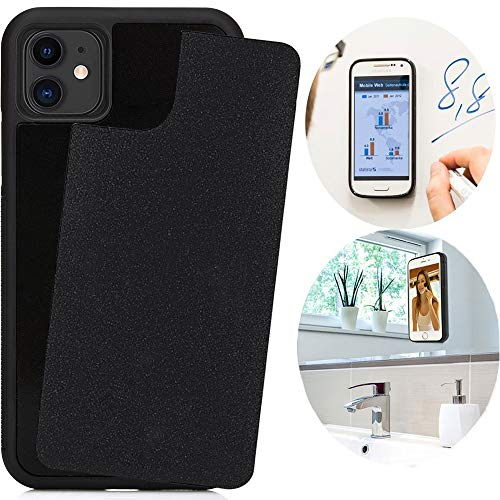 CloudValley Anti Gravity Case for iPhone 11 (2019), Goat Case Magical Nano Can Stick to Glass, Whiteboards, Tile and Smooth Surfaces [Black]