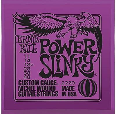 Ernie Ball 2220 Power Slinky Nickel Electric Guitar Strings (6-pack)