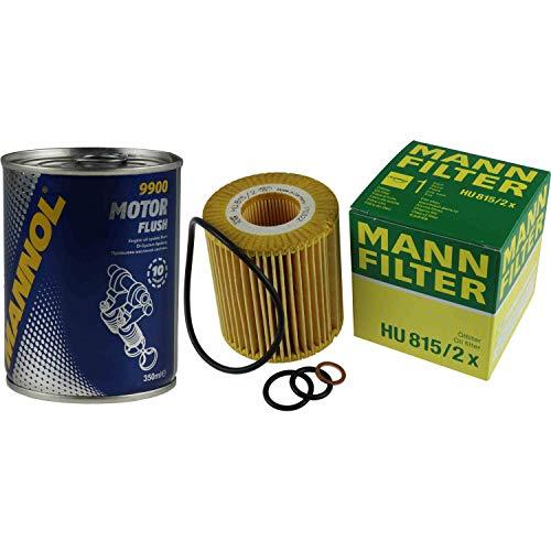 Original MANN Ölfilter HU 815/2 x + SCT Motor Flush Motorspülung
