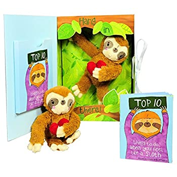 Get Well Gifts - Feel Like a Sloth? Hang in There! Get Well Soon Gift for Women Kids Men Teens Plush Sloth and Top 10 Things to Do When You Feel Like a Sloth in Gift Box Great for After Surgery.