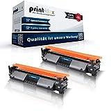 Print-Klex - 2 cartucce toner compatibili con HP LaserJet Pro M 130 MFP LaserJet Pro M 130 nw LaserJet Pro M 130 Series CF217 A CF217A 17A CF 217A Black Black Black - Office Print Serie