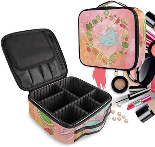 Cosmetische HZYDD Zomer Fruit Eenhoorn make-up tas Toilettas Rits Make-up Tassen Organizer Pouch voor Gratis Compartiment Vrouwen Meisjes tas