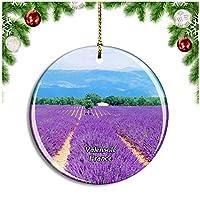 フランス Valensoleクリスマスデコレーションオーナメントクリスマスツリーペンダントデコレーションシティトラベルお土産コレクション磁器2.85インチ