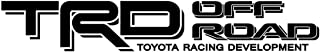 Toyota TRD Truck Off Road 4x4 Toyota Racing Tacoma Decal Vinyl Sticker (BLACK 070)