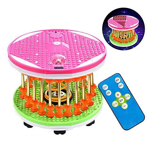 ZY Abdominal de Cintura Fina de Dispositivos retorció Twisted Disco Twister Inteligente de Control Remoto con la música Luces de Peso Grasa de combustión giratoria Máquina del Baile LOLDF1