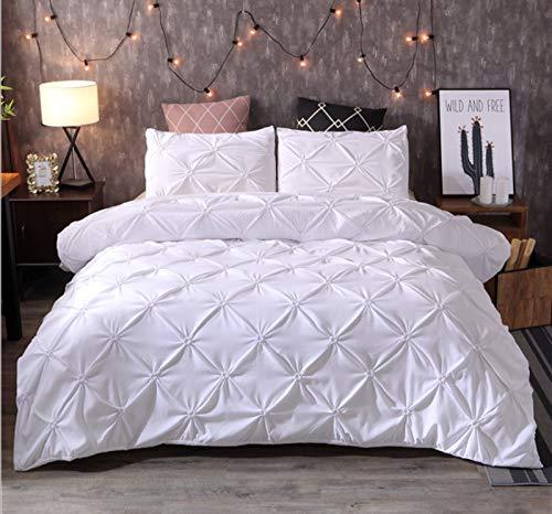 HHDL Juego de ropa de cama de satén, funda nórdica de lujo con cremallera y funda de almohada (F,220 x 240 cm)