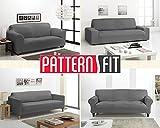 JM Textil Copridivano Patternfit Tokyo Dimensione 2 posti (da 130 a 180 cm.), Colore BE10 (Vari Colori Disponibili.)