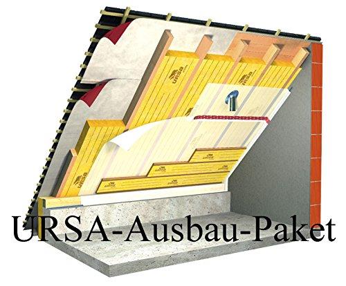 URSA Ausbau-Paket 160mm 90m² WLG 035 Klemmfilz Dämmung Mineralwolle Komplett-Set