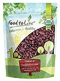Bio Dunkelrote Gartenbohnen, 3 Pfund - Nicht-GVO, koscher, roh, keimbar, vegan