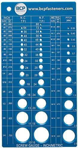 Metric /& Imperial /& US Thread Screw Pitch Blades Gauge Gage Measure Range A1