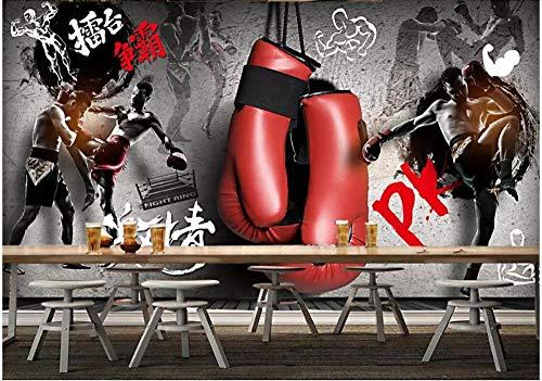 Papel Tapiz Personalizado 3D estereoscópico Moderno Arte Abstracto Mural de Pared Sala de Estar Dormitorio Wallpaper_Fitness Wallpaper_500Cm (W) X320Cm (H)