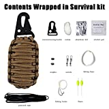 Zdmathe 10 in 1 Paracord Seil Survival Kits Outdoor Camping Multifunktion Erste Hilfe Notfall...